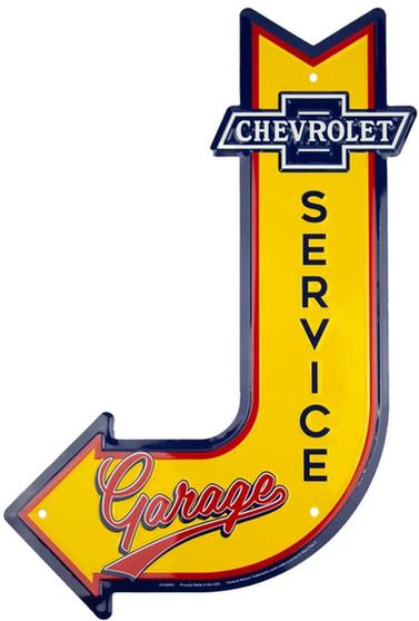 HangTime Chevrolet Garage J arrow sign