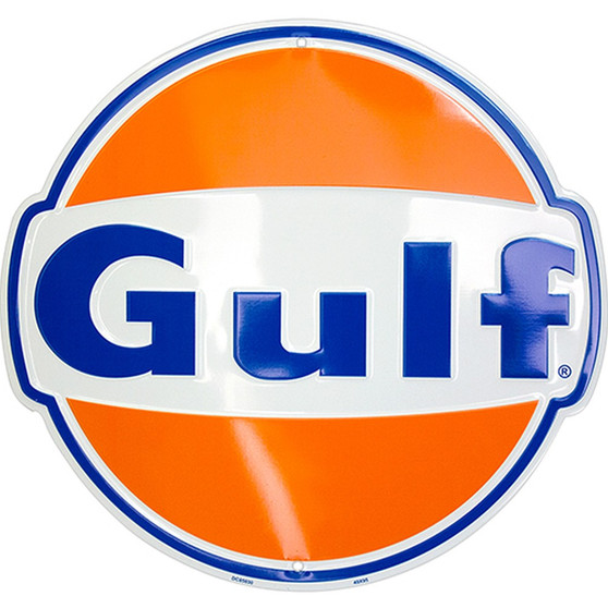 HangTime Gulf Oil garage sign 24 inches in diameter