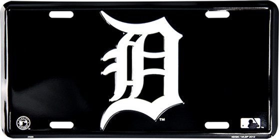Detroit Tigers  classic black background license plate