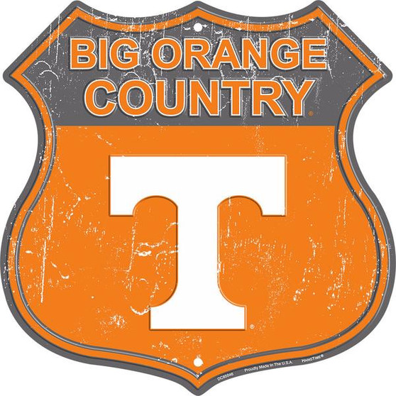 Tennessee - Big Orange Country 12 inch die cut route sign