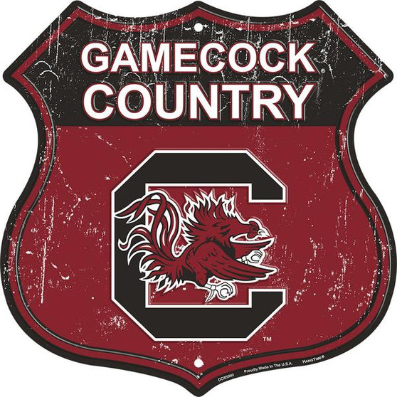 University of South Carolina - Gamecock Country 12 inch die cut route sign