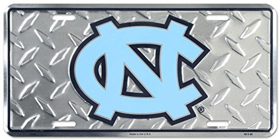 Hang Time University of North Carolina Diamond Cut NCAA metal License Plate