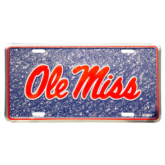 HangTime Ole Miss Rebels  mosaic license plate