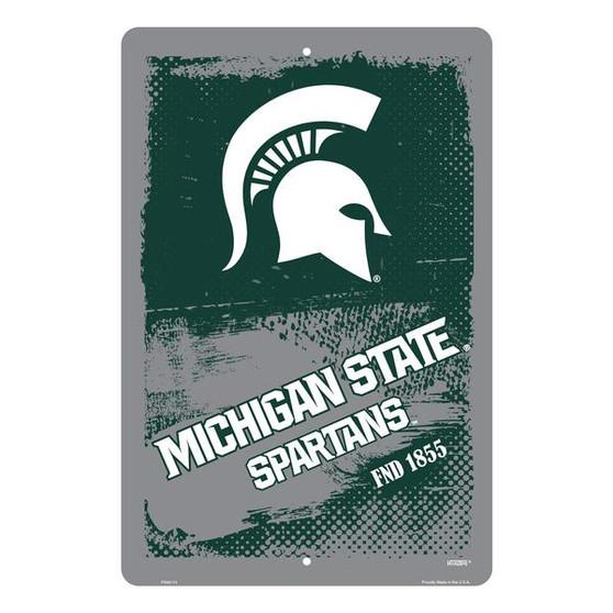 Hangtime Michigan State Spartans 12 x 18 grunge sign