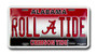 Alabama ROLL TIDE 6 x 12 Embossed aluminum license
