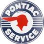 HangTime Pontiac Service  Aluminum garage sign 24 inches in diameter