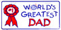 Hangtime World's Greatest Dad novelty metal license plate