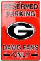 Hangtime Georgia Bulldog 8 x 12 metal parking sign