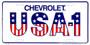 Hangtime Chevrolet USA-1 embossed metal license plate 6 x 12