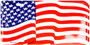 Hangtime US Flag waving novelty license plate