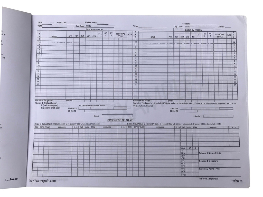 NEW KAP7 Large Scorebook