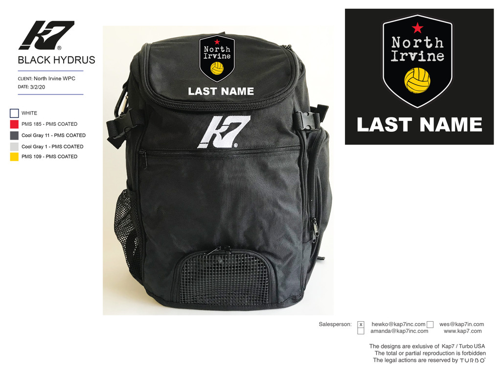 North Irvine WPC Backpack with Name