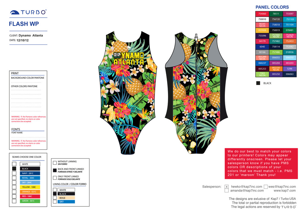 Dynamo Flash Suit - Tropical