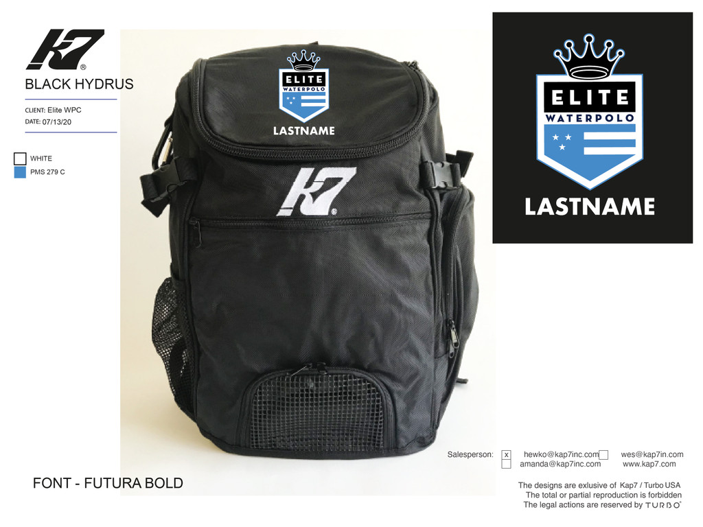 Elite WPC Backpack with Name