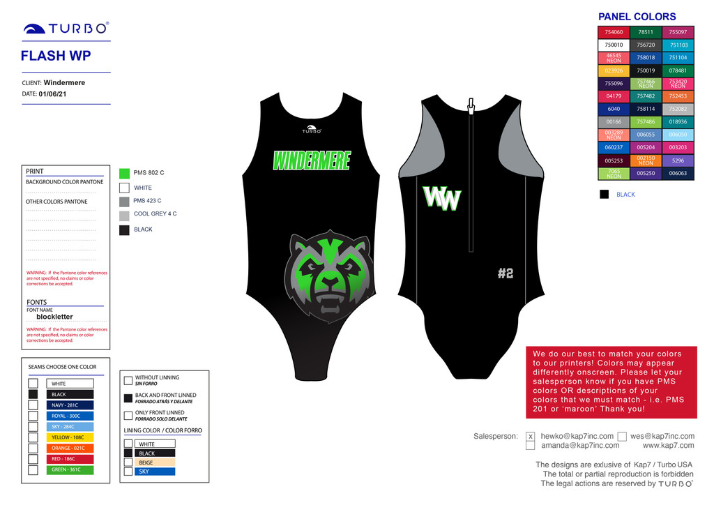 Windermere Flash Suit - with Number
