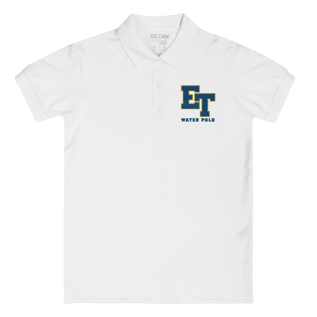 El Toro High School Water Polo White Royal ET Embroidered Women's Polo Shirt