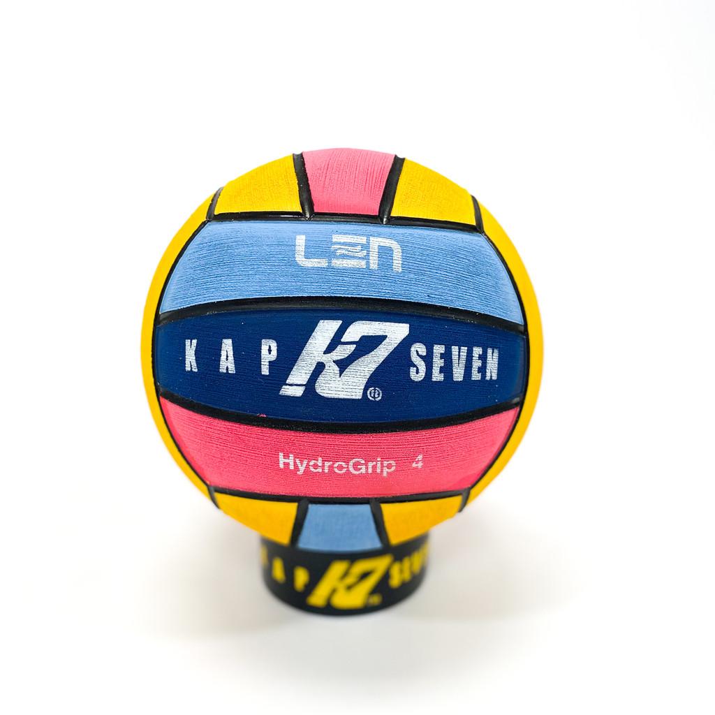 KAP7 LEN Logo EURO Champs 4 Color: Yellow/Navy/Pink/Blue Size 4