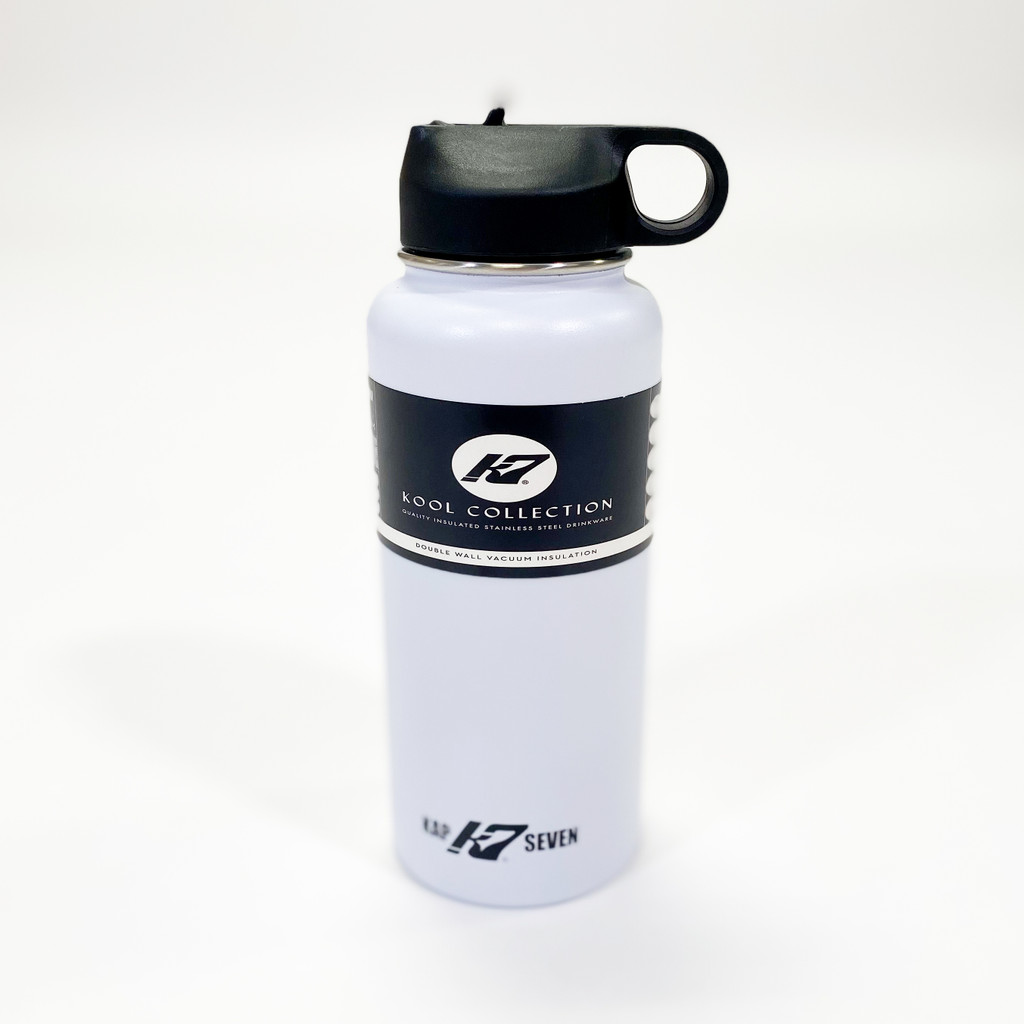 K7 32oz Stainless Steel  Water Bottle - White