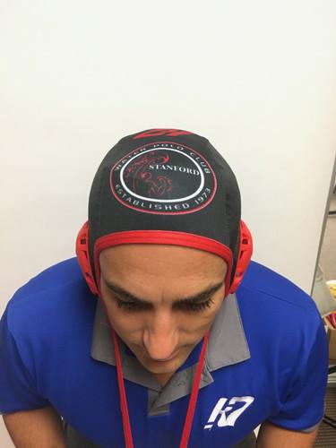 Stanford Water Polo Club Training Cap- Black.