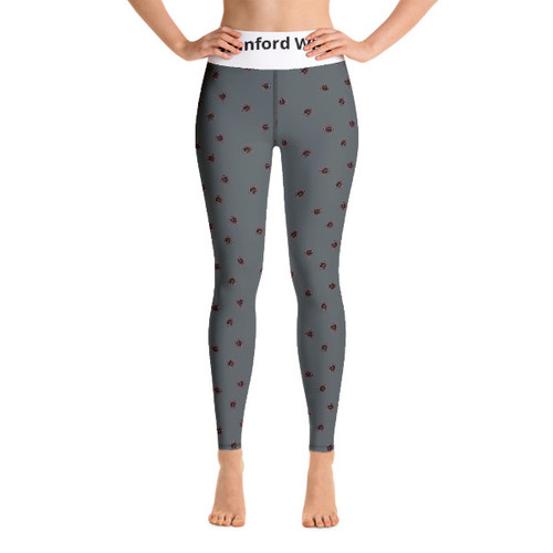 Stanford WPC Mom- All-Over Print Yoga Leggings