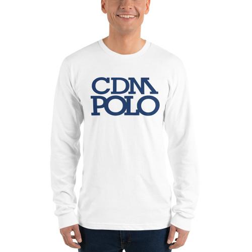 CDM Polo White Long sleeve t-shirt