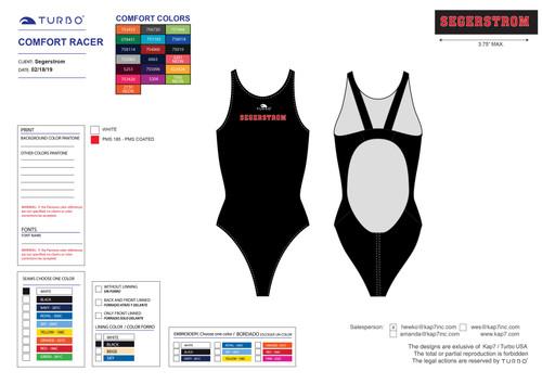 Segerstrom High School Custom Comfort ProRacer Swim Suit