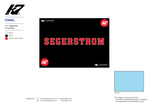 Segerstrom High School Aquatics Towel