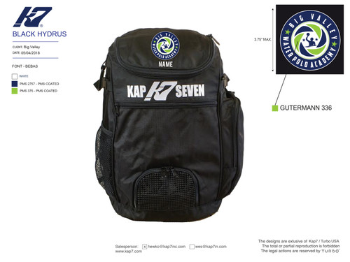 Big Valley WPA Backpack with Name