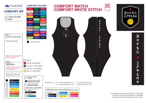 North Irvine Water Polo Club Comfort Suit