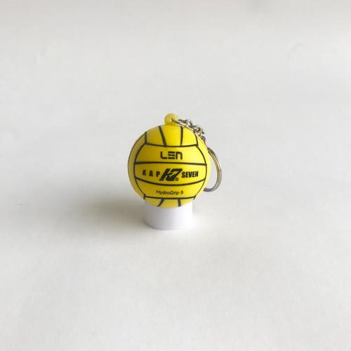 K7 Key Chain Stress Ball - Yellow