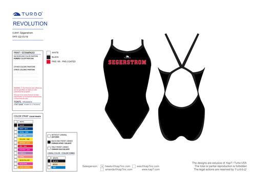 Segerstrom HS Girls's Spirit Pack - Revolution Swim Suit