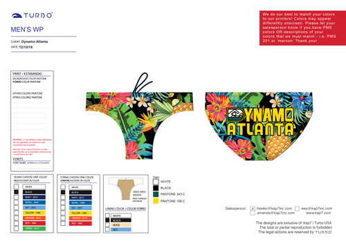Dynamo Men's Suit - Tropical