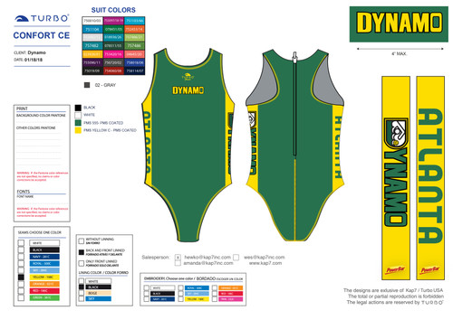Dynamo Custom Women's Water Polo Suit - Comfort Elite Classic