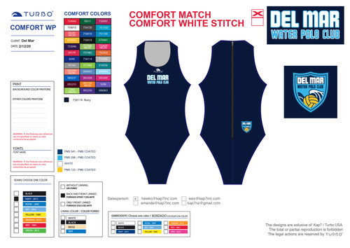 Del Mar Water Polo Club Comfort Suit