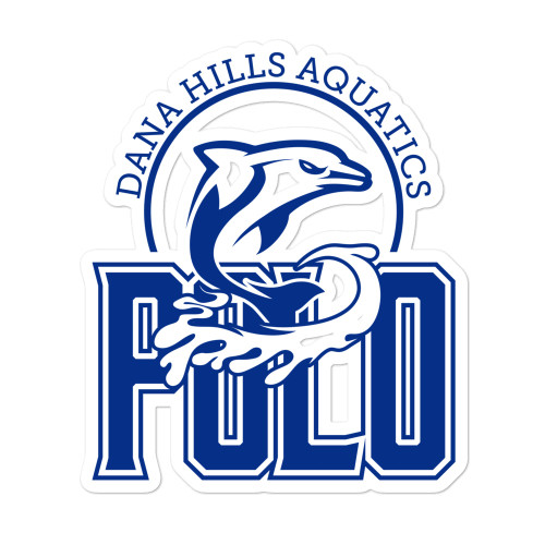 Dana Hills HS Bubble-free stickers