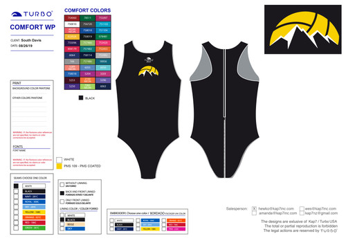 South Davis Water Polo Comfort Classic Suit