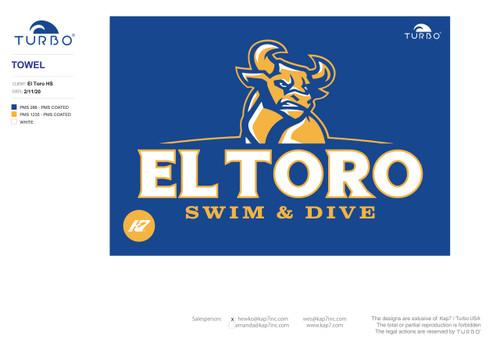 El Toro High School Swim & Dive Towel