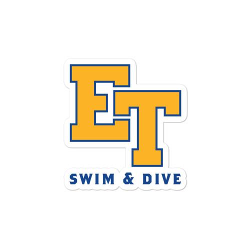 El Toro High School Swim & Dive Yellow Bubble-free stickers