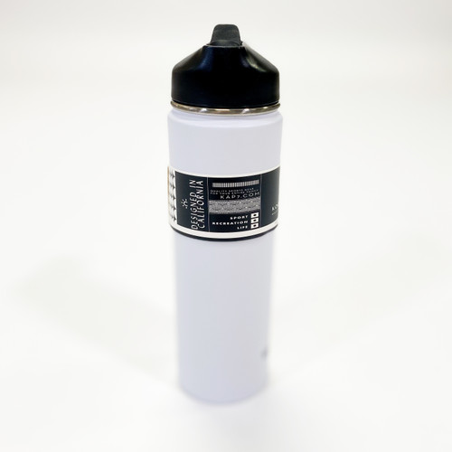 K7 22oz Stainless Steel Water Bottle - White