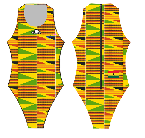 Turbo Africa Kente Special Edition Women's Water Polo Suit