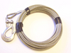 """Stainless Steel Winch Cable 3/16"""", 7x19, 50 ft with 1/4"""" Stainless Steel Clevis Slip Hook"""