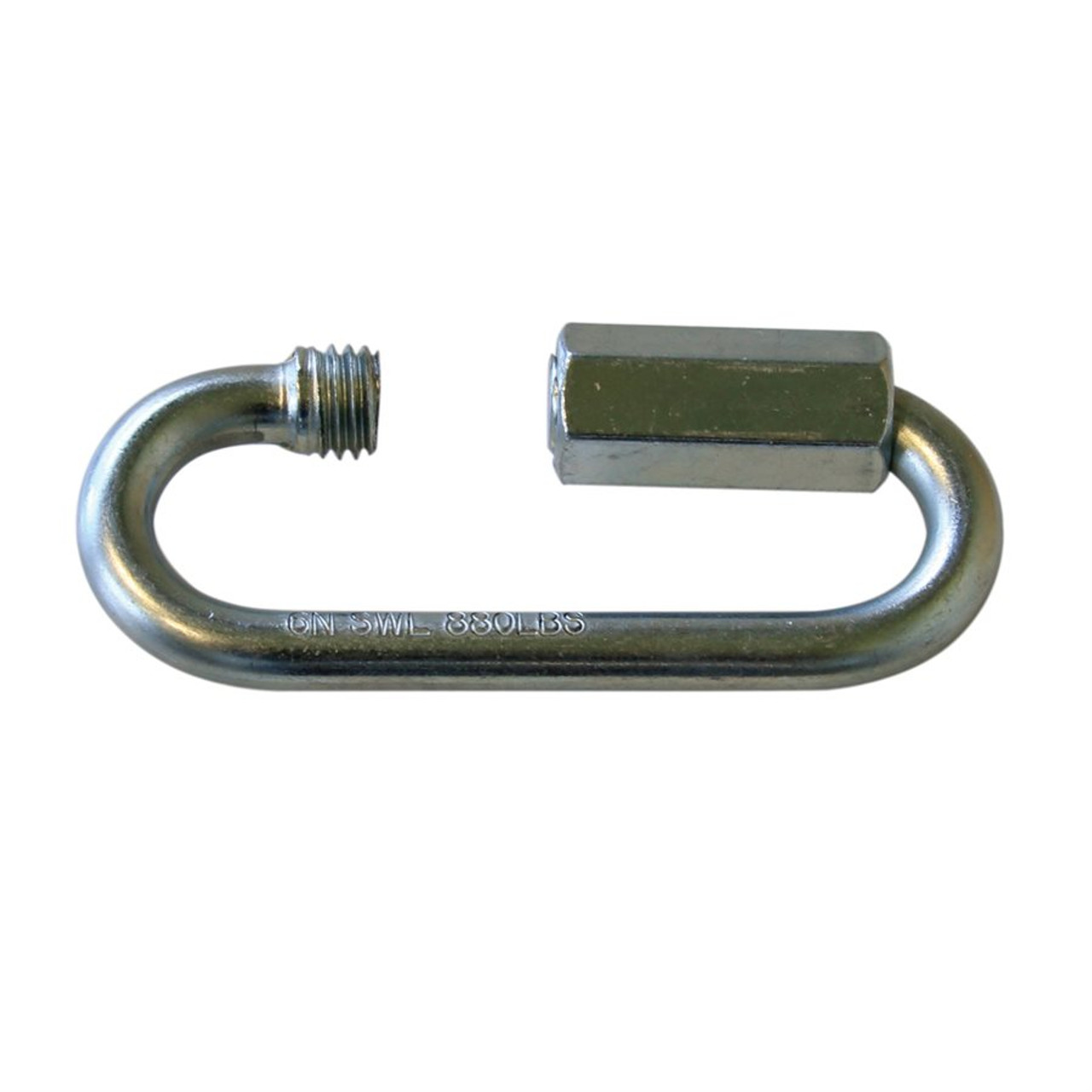 """Zinc Plated Quick Link Wide Jaw 1/4"""", 100 pieces"""