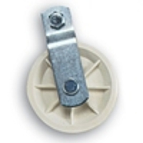 "3-1/2"" White Nylon Composite Pulley"