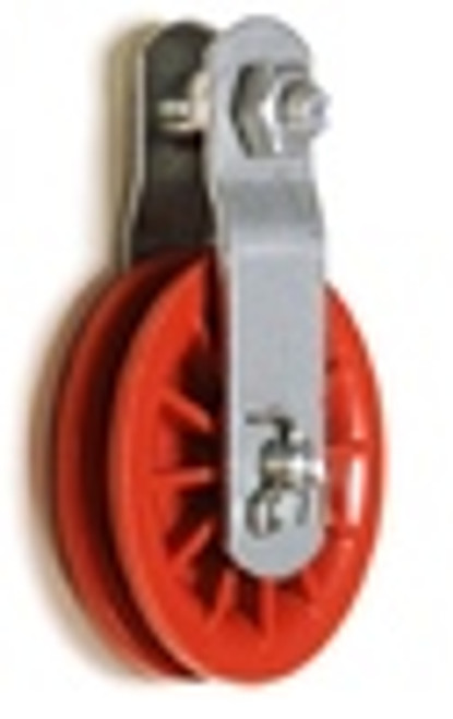 "2-1/2"" Red Nylon Composite Pulley"