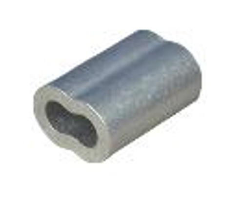 """Aluminum Sleeve for Wire Rope 1/4"""", Made in USA"""