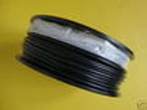 "Black Vinyl Coated Cable, 3/16"" - 1/4"", 7x19, 100 ft reel."