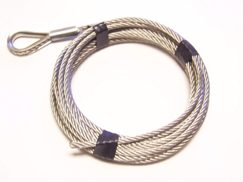 """Stainless Steel Winch Cable 5/16"""", 7x19: 50 ft"""