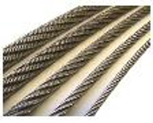 """304 Stainless Steel Wire Rope 3/32"""", 7x7, by the foot"""