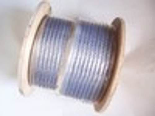 "Galvanized Cable 3/8"", 7x19, 500 ft reel (VA TAX EXEMPTION REQUIRED, PICK UP ONLY)"