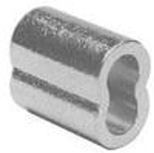 "Nickel Plated Copper Swage Sleeve, 3/64"", 100 pieces"